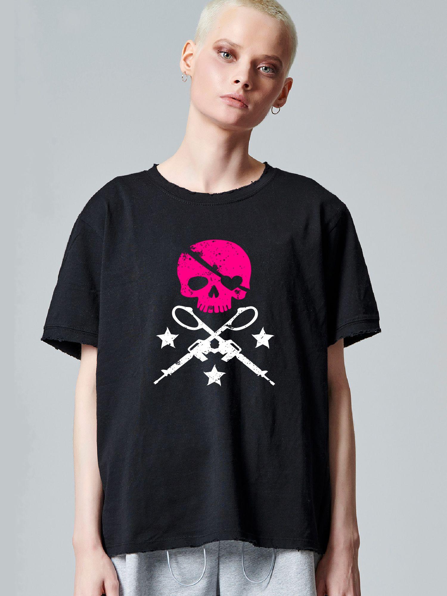 Fuchsia Skull Guns