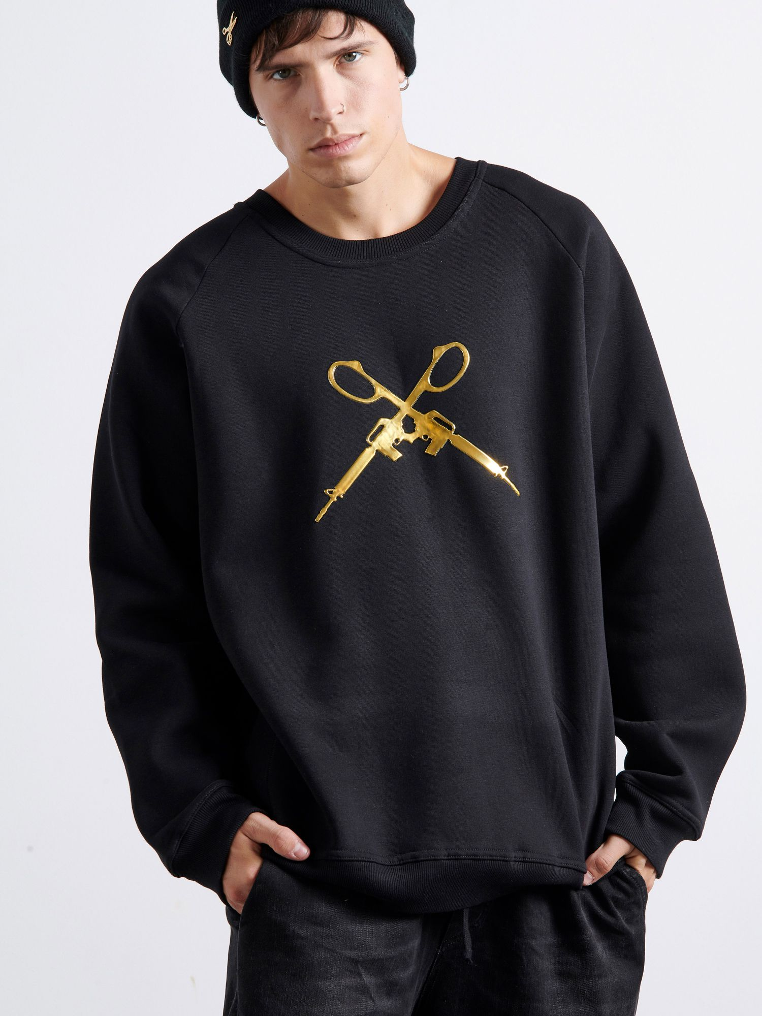 3D Gold Guns Sweater