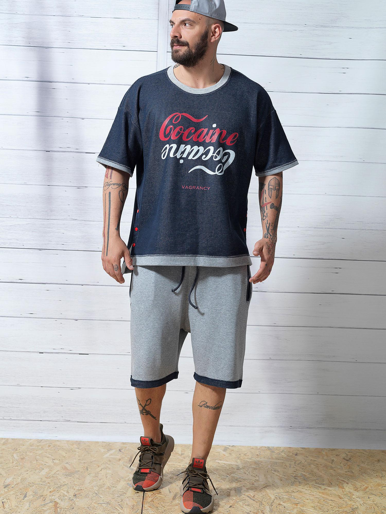 GREY Blue Rip Shorts