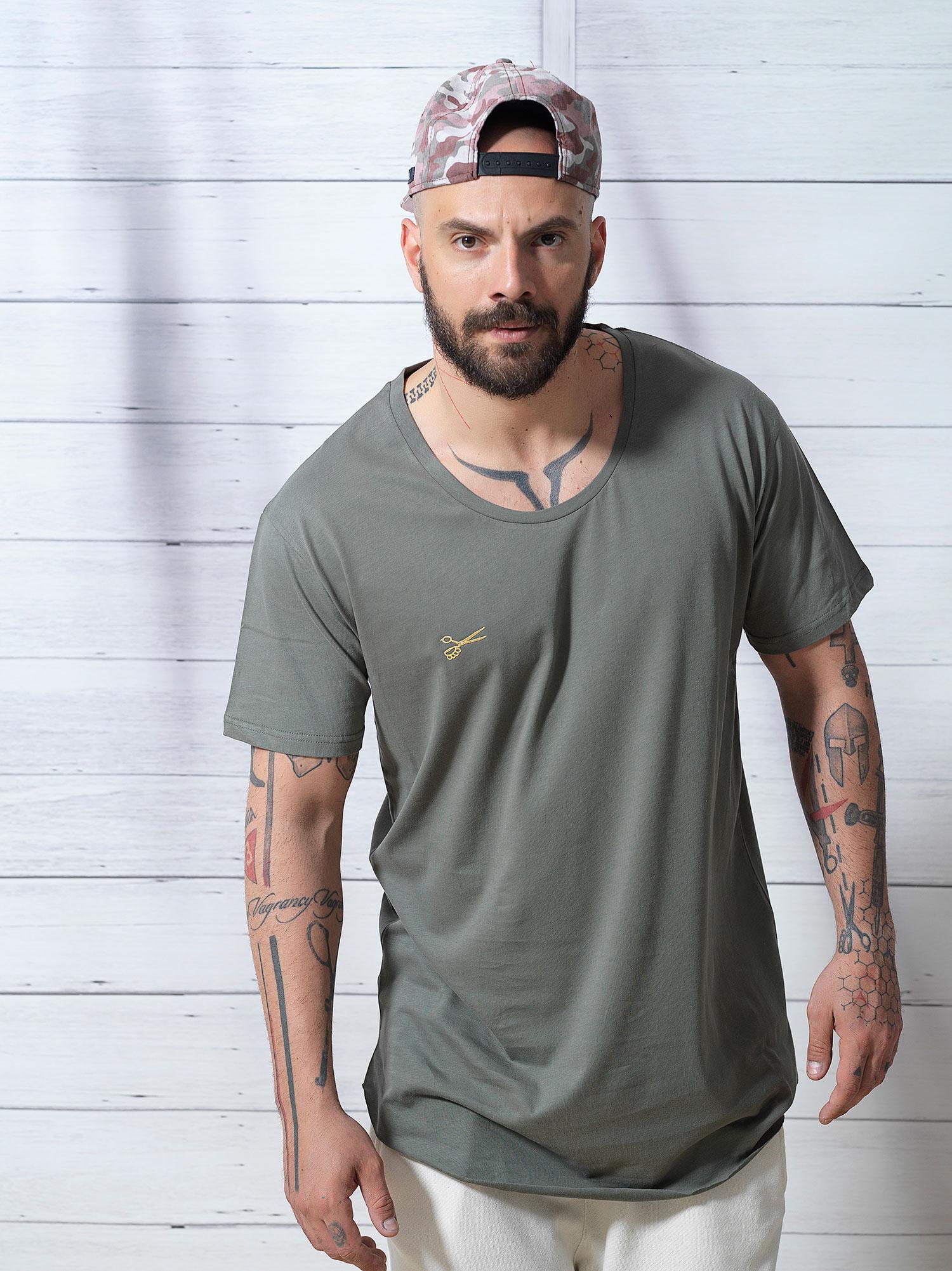 Gold Scissors Khaki Tshirt