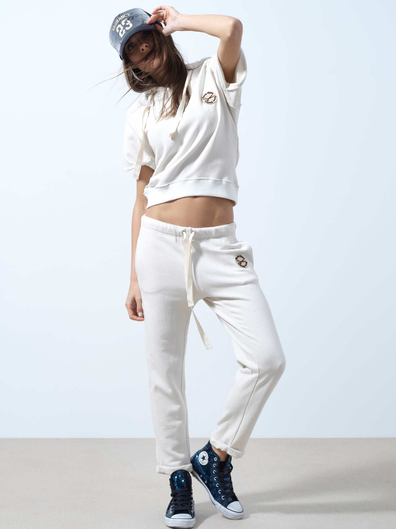 White Loose Pants