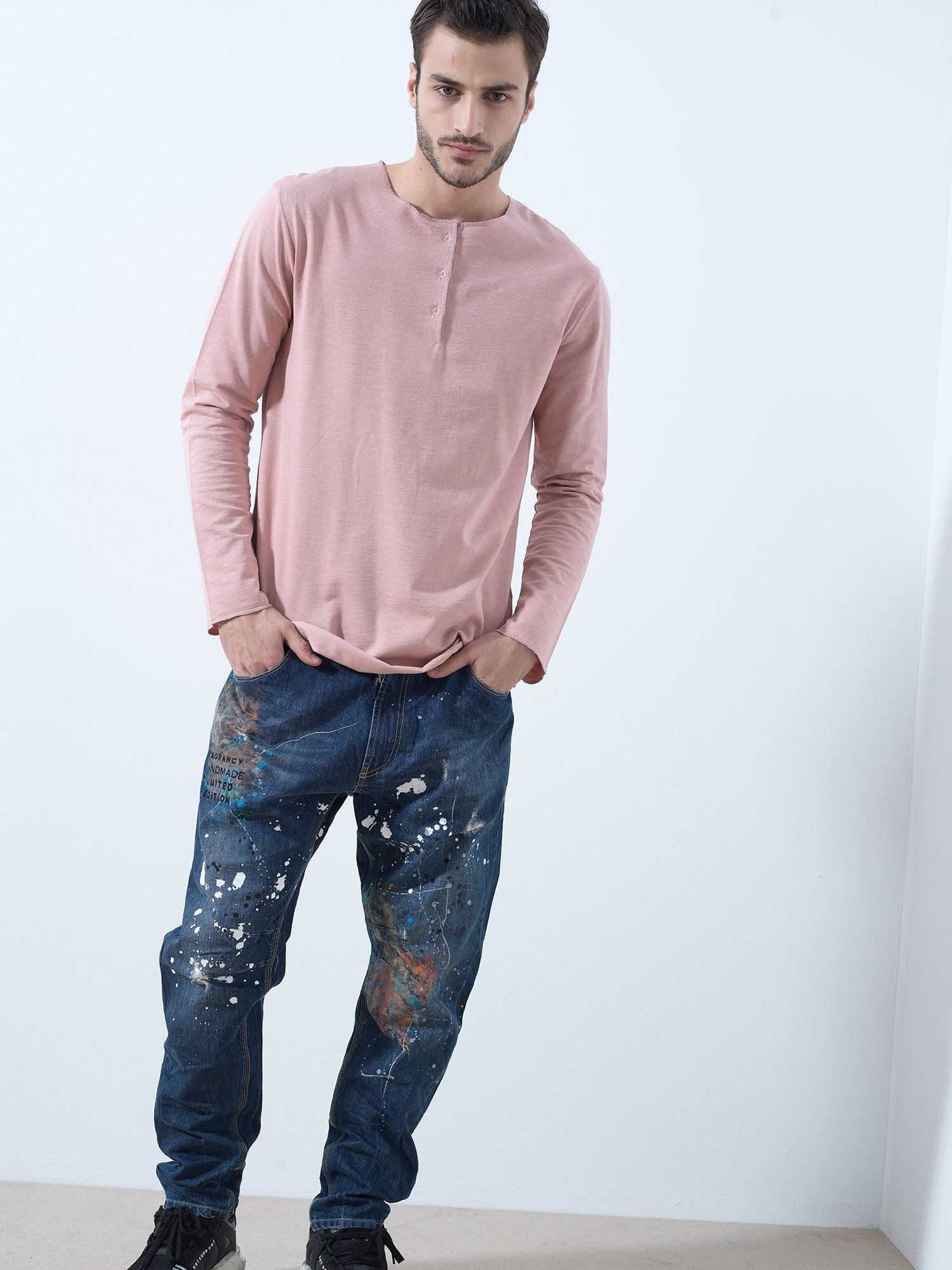Pink Buttoned Tshirt